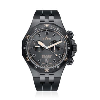 reloj edox caucho negro cronografo 10109-357GNCA-NINB