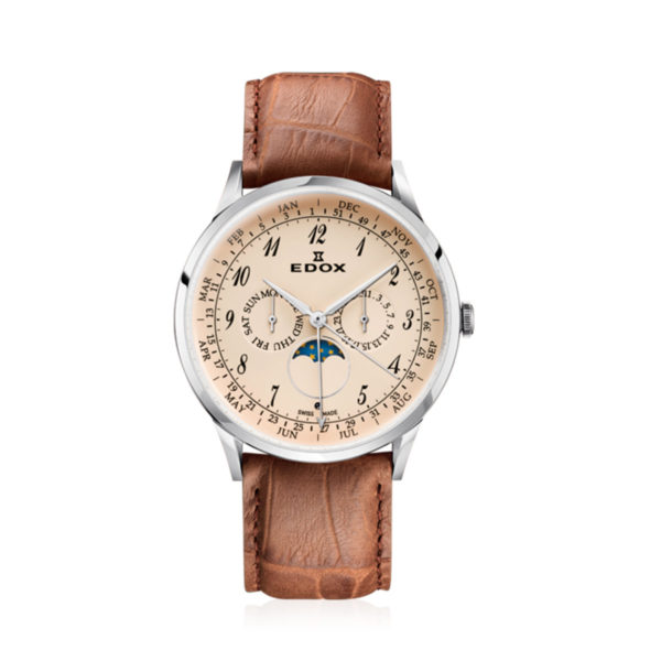 reloj edox les vauberts cuero 40101-3C-BEBN