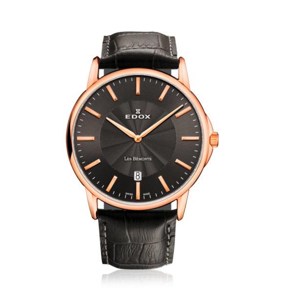 reloj edox pulso en cuero les bemonts 56001-37R-GIR