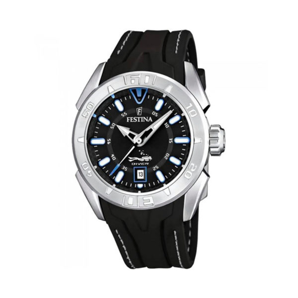 reloj festina diere hombre caucho negro F16505-A