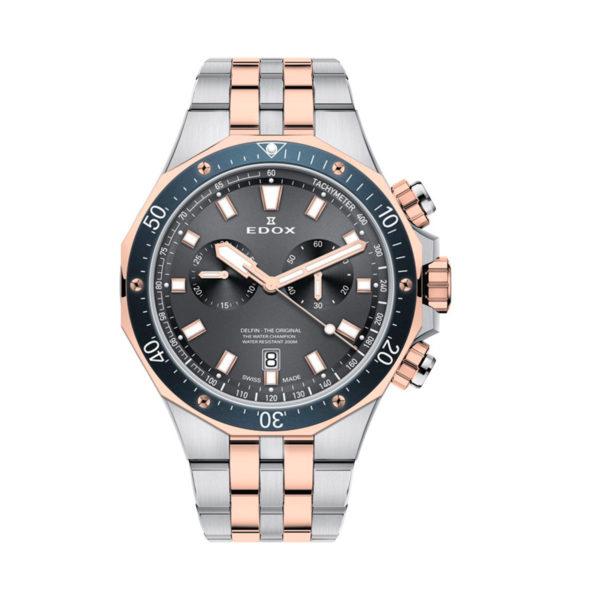 reloj edox delfín acero 10109357RBUM
