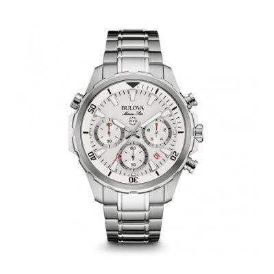 Reloj Bulova 96B255 en acero tablero blanco