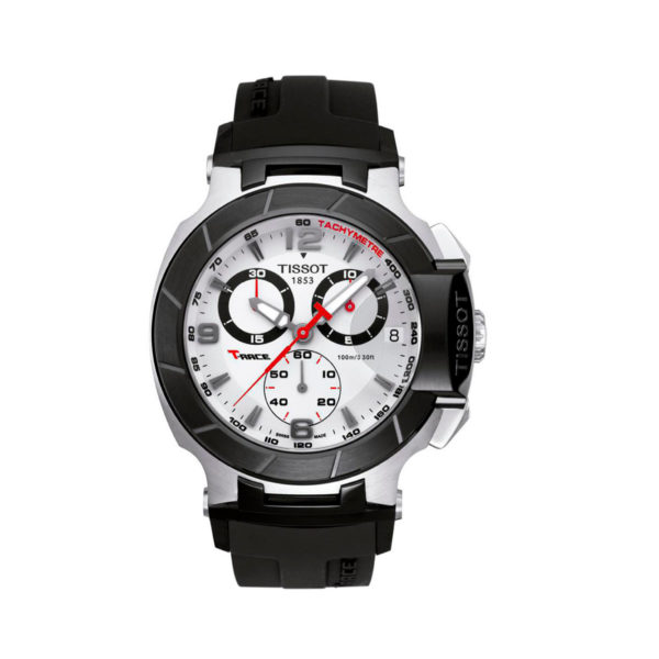 Tissot T race negro tablero blanco