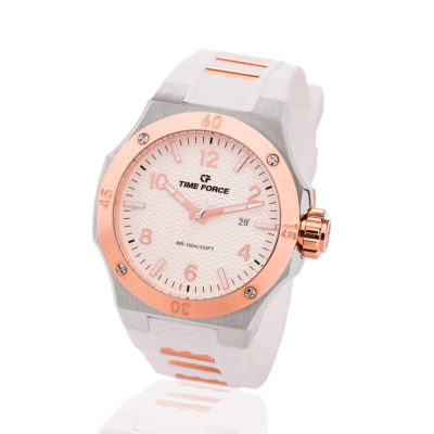 Reloj time force blanco TFA5015MAR-02