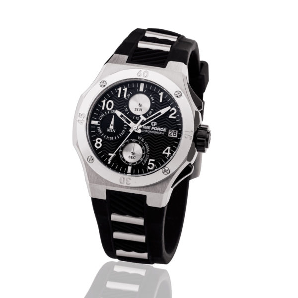 Reloj Time force TF-A5016L-01 caucho negro