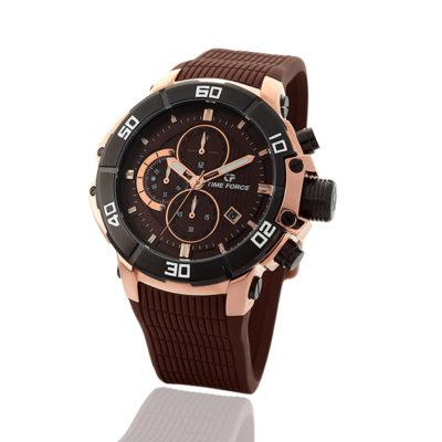 reloj time force chocolate cronógrafo TF/A5000M-4/R-06-D-06