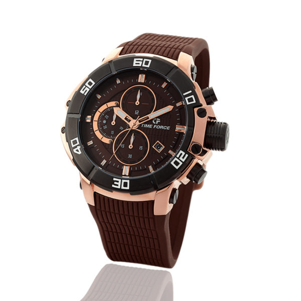 reloj time force chocolate cronógrafo TF/A5000M-4/R-06-D-06