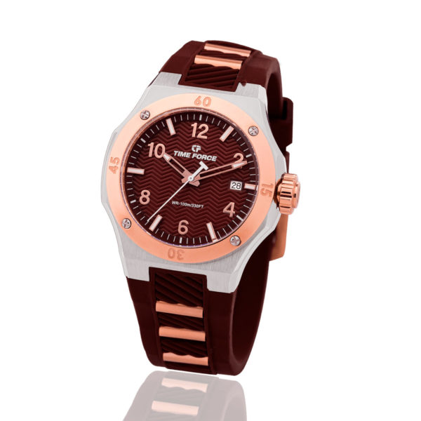 reloj time force celebration dama chocolate TFA5015LAR-06