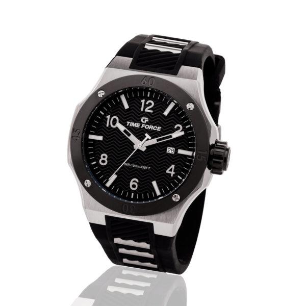 Reloj Time force hombre negro TFA5015M-01