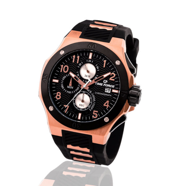 Reloj Time force negro caucho TF/A5016MR-01