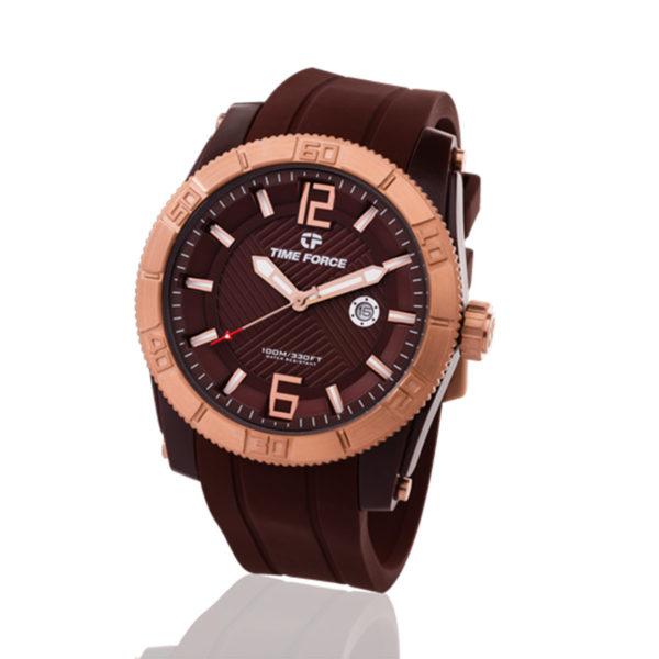 reloj time force metaforice hombre chocolate TF/A5017MNR-06