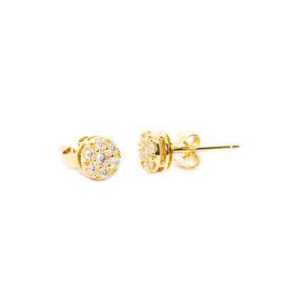 TOPOS Oro Amarillo Flor Diamantes