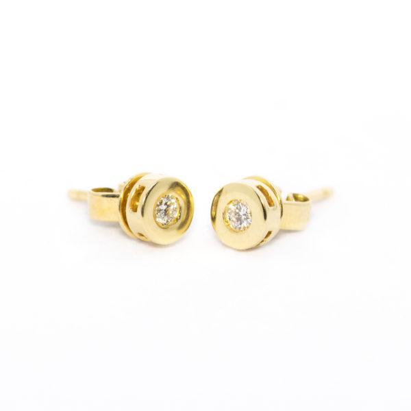 TOPO Oro amarillo Diamante Circular