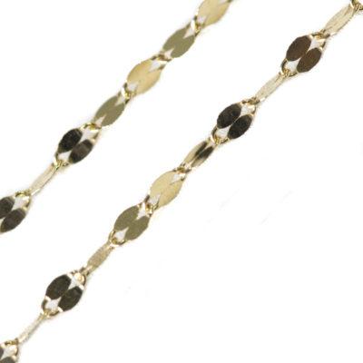 cadena oro amarillo placas