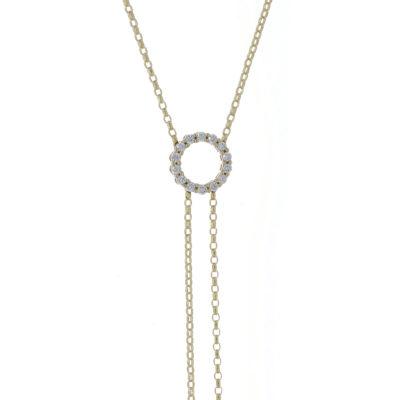 cadena oro amarillo diamantes