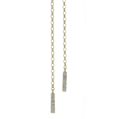 cadena oro diamantes