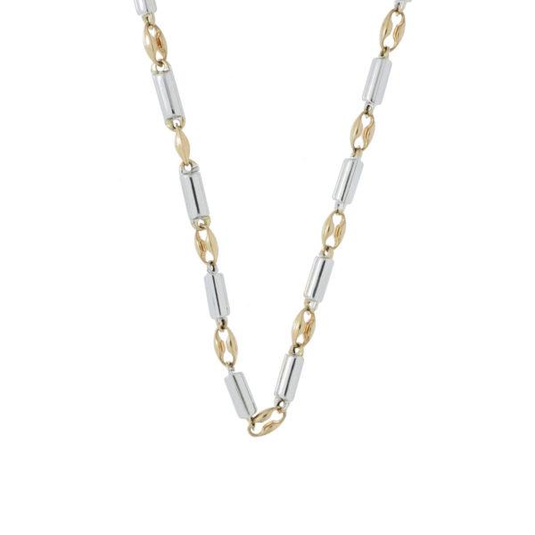 cadena oro blanco y rosado