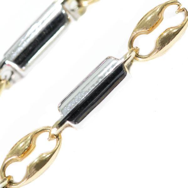 cadena oro blanco para hombre