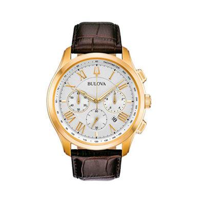 Reloj Bulova Classic dorado pulso en cuero