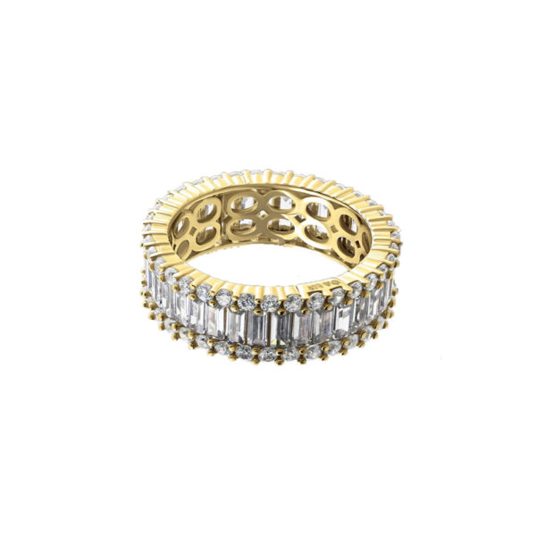 anillo en plata infinity