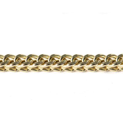 cadena oro amarillo cuadrada