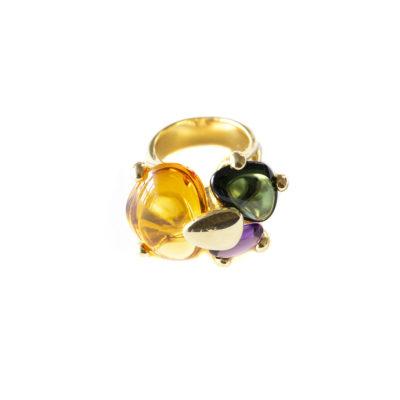 anillo plata amatista