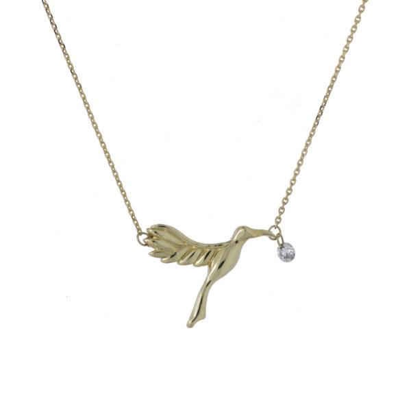 Cadena oro amarillo colibri