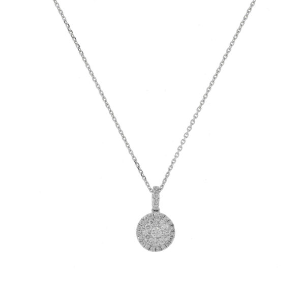 cadena oro blanco diamantes