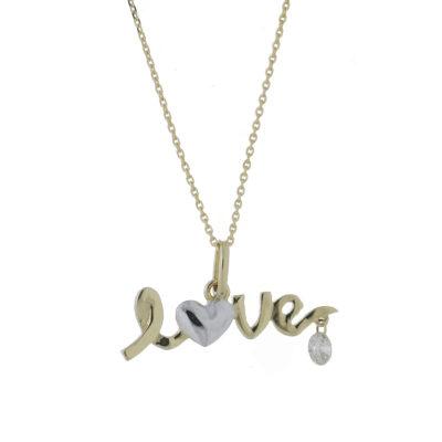 cadena oro amarillo love