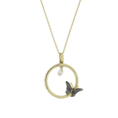 cadena oro mariposa