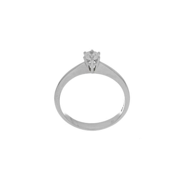 anillo oro blanco