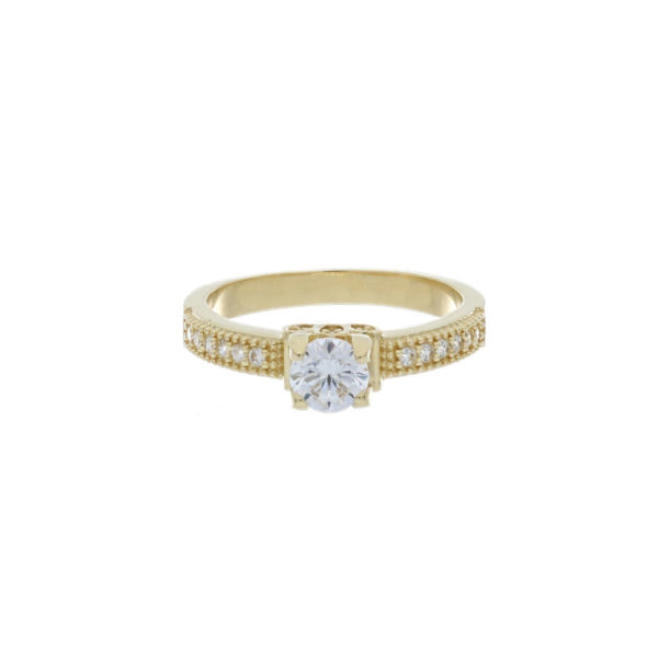 anillo oro compromiso