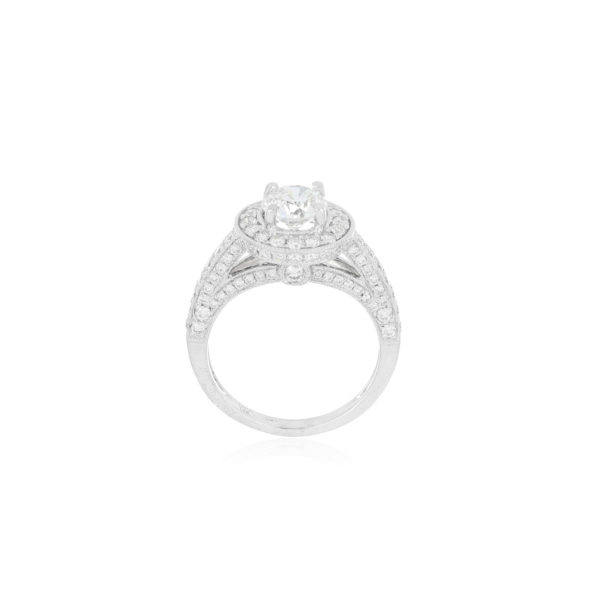 anillo solitario oro blanco