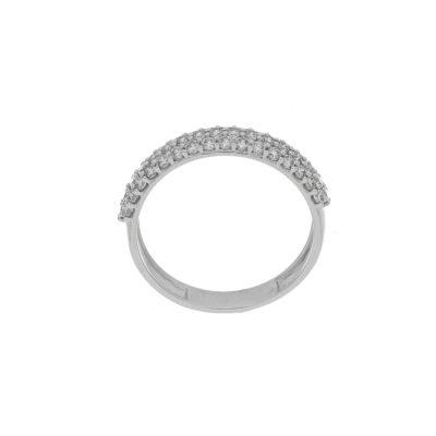 anillo argolla oro blanco