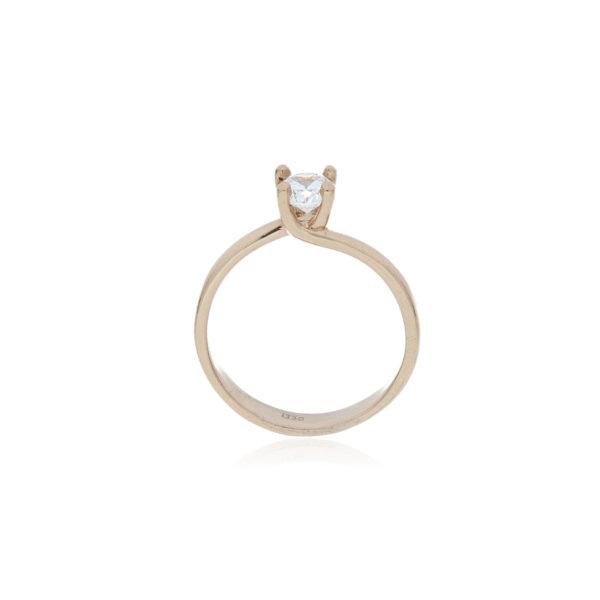 anillo oro rosado