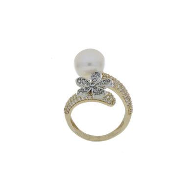 anillo oro amarillo perla