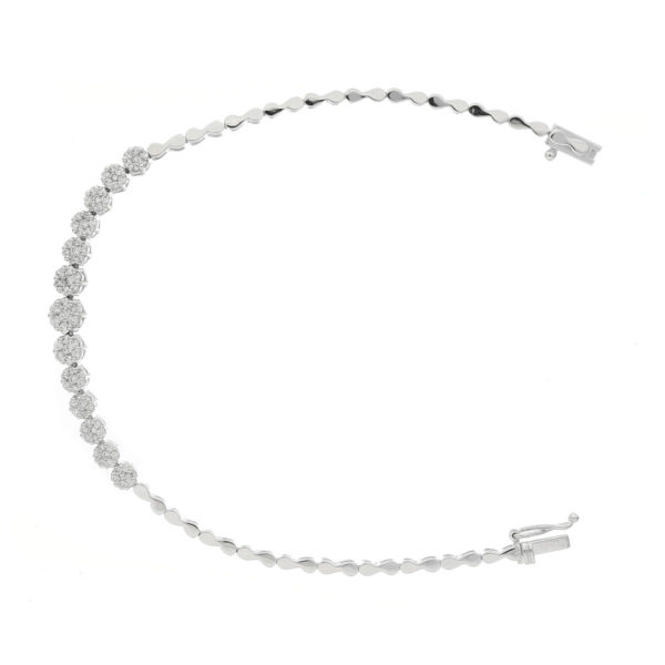pulsera oro blanco diamante