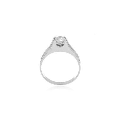 anillo oro solitario
