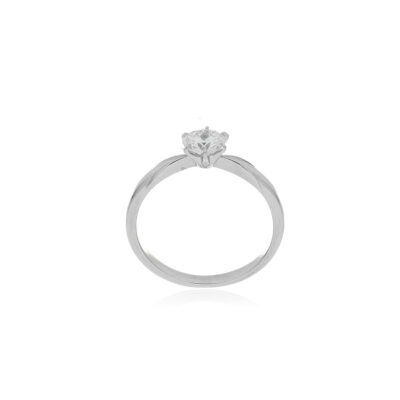 anillo platino diamante