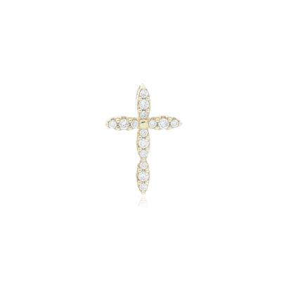DIJE Oro Amarillo Cruz Diamante