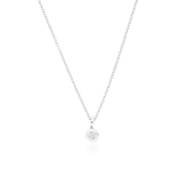 CADENA Oro Blanco 40cm con diamante