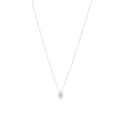 CADENA Oro Rosado 40cm con diamante