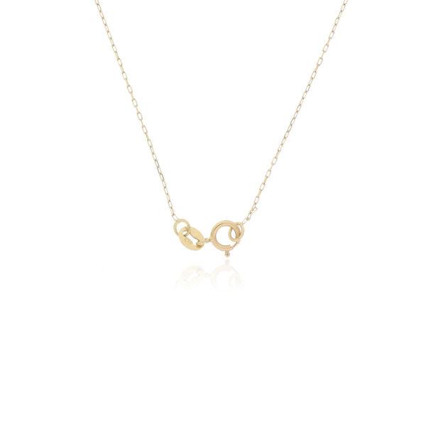 CADENA Oro Amarillo 40cm cruz Diamantes
