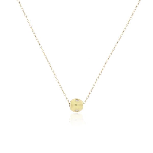 CADENA Oro Amarillo 45cm Diamantes