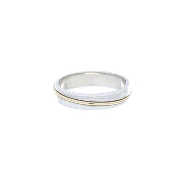anillo oro blanco argolla