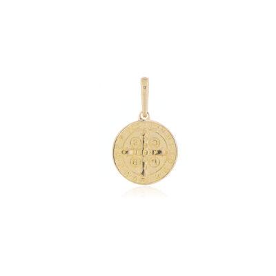 DIJE Oro Amarillo Medalla San Benito