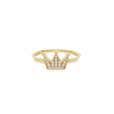 ANILLO Oro Amarillo Corona Zircones