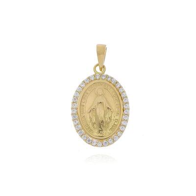 DIJE Oro Amarillo Virgen Grande