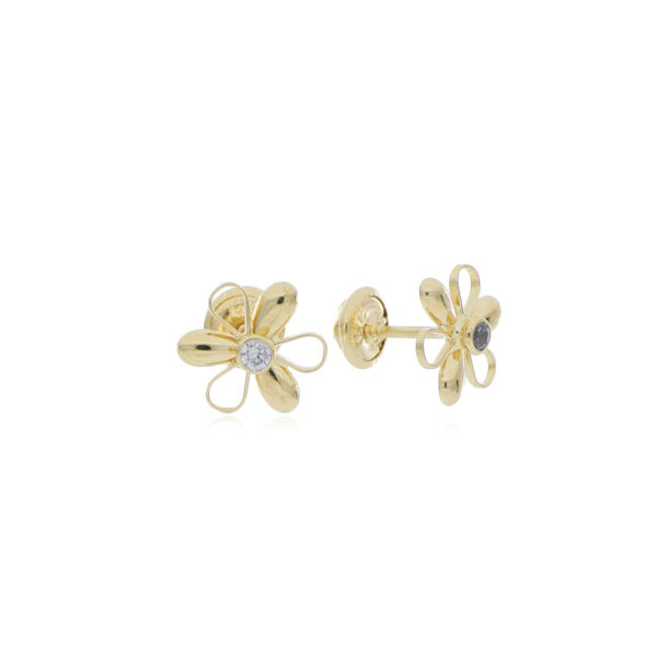 TOPOS Oro Amarillo Flor con circones