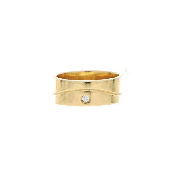ANILLO Oro Amarillo Argolla matrimonio Ancha